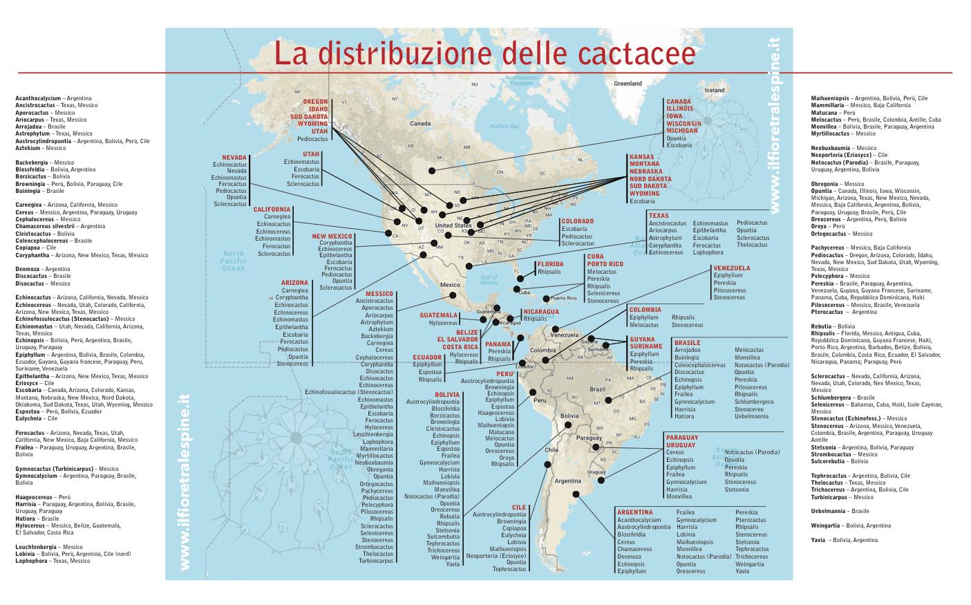 Mappa distribuzione cactus
